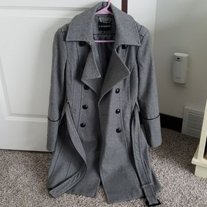 Women's Express Long Belted Trench Coat